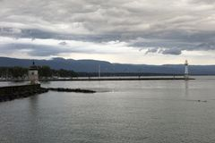 Lake leman Royalty Free Stock Images