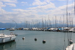 Lake Leman Lausanne Royalty Free Stock Images