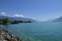 Lake Leman Switzerland Stock Image