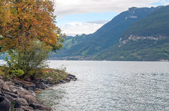 Lake Leman in Switzerland Stock Photo