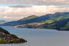 Lake Leman in Switzerland Stock Images