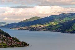 Lake Leman in Switzerland Stock Images