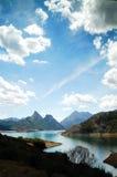 lake leon luna spain royaltyfri fotografi