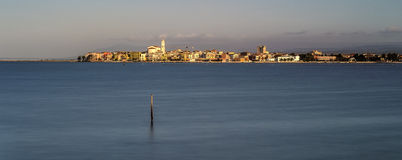 Lake of Lesina. Lesina and its lake of the same name Royalty Free Stock Photo