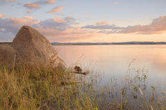 Lake Leslie in Queensland. Lake Leslie near Warwick, Queensland in the late afternoon Stock Photo