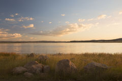 Lake Leslie in Queensland. Lake Leslie near Warwick, Queensland in the late afternoon Stock Images