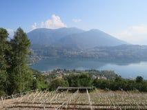 Lake Levico Caldonazzo Trentino Stock Photo