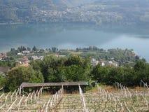 Lake Levico Caldonazzo Trentino Stock Image