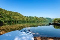 Lake of Levico - Trentino Alto Adige - Italy. Lago di Levico Lake, Levico Terme, Trentino Alto Adige, Italy, Europe stock images