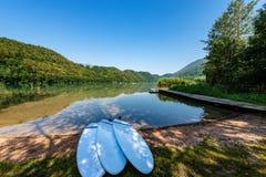 Lake of Levico - Trentino Alto Adige - Italy. Lago di Levico Lake, Levico Terme, Trentino Alto Adige, Italy, Europe stock image