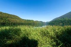 Lake of Levico - Trentino Alto Adige - Italy. Lago di Levico Lake of Levico, Trentino Alto Adige, Italy, Europe stock photos