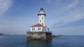 Lake light house stock photo