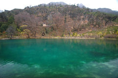 A lake in Lijiang. A turquoise lake in Lijiang Stock Images