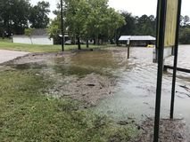 Lake Livingston Flooding Hurricane Harvey. Flooding on lake Livingston in Onalaska Texas Stock Photography
