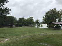 Lake Livingston Flooding Hurricane Harvey. Flooding on lake Livingston in Onalaska Texas Stock Images