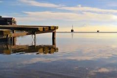 Lake Llanquihue mirrors Osorno Volcano, Patagonia Royalty Free Stock Images