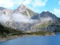 Mountain lake high alpine landscape Stock Images