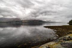 Lake Loch Linnhe in Scotland royalty free stock image