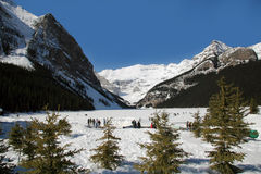 Lake Loise in Winter Royalty Free Stock Photography