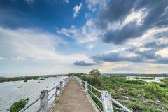 Lake, long corridors, beautiful sky Stock Photography