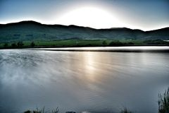 Lake. Longexpo lake with sun Stock Image