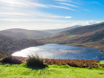 Lake Lough Tay or The Guinness Lake, Ireland. Lake Lough Tay or The Guinness Lake. County Wicklow, Wicklow Mountains National Park, Ireland Royalty Free Stock Photo