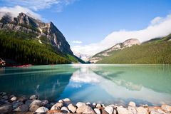 Lake Louis. Beautiful Lake Louis of the Canadian Rockies Stock Image