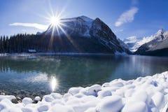 Lake Louise冬天妙境 库存照片