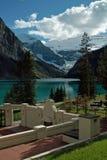 Lake Louise, εθνικό πάρκο Banff, Αλμπέρτα, Καναδάς. Στοκ Φωτογραφία