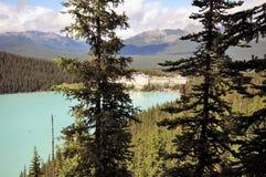 Lake Louise, Καναδάς από Fairmont Chateau στοκ εικόνα