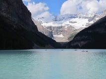Lake Louise Альберта Стоковое Изображение