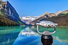 Lake Louise с ледником Виктории держателя в национальном парке Banff Стоковые Фотографии RF
