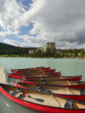 Lake Louise Royaltyfri Foto