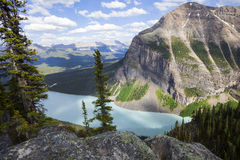 Lake Louise. Above the canopy overlooking Lake Louise in Alberta, Canada Stock Image