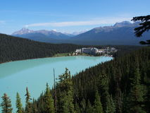 Lake Louise al parco nazionale di Banff Immagini Stock Libere da Diritti