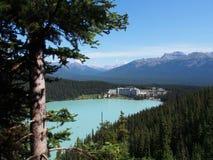 Lake Louise al parco nazionale di Banff Fotografia Stock
