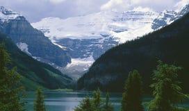 Lake Louise Alberta Canada. Victoria Glacier and Lake Louise, Banff National Park royalty free stock photos