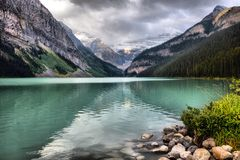 Lake Louise Alberta Canada royalty free stock photos