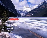 Lake Louise, Alberta, Canada. Royalty Free Stock Photo