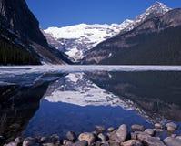 Lake Louise Alberta, Kanada. Arkivbild