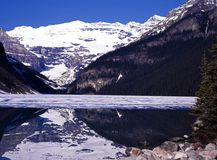 Lake Louise Alberta, Kanada. Royaltyfri Fotografi