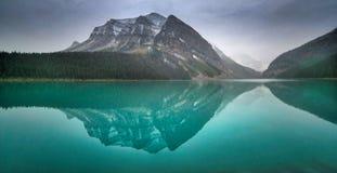 Lake Louise, Alberta. Reflection on water Royalty Free Stock Photo