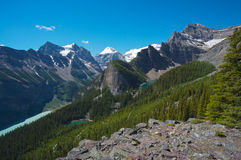 Lake Louise area in Canada Royalty Free Stock Photo