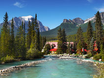 Lake Louise Banff Alberta Canada Royalty Free Stock Images
