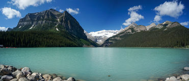 Lake Louise in Banff National Park Stock Photo