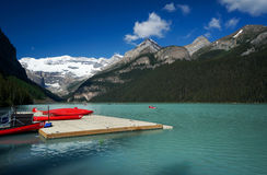 Lake Louise in Banff National Park Royalty Free Stock Photo