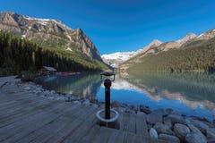 Lake Louise in Banff national park, Alberta, Canada. Royalty Free Stock Image