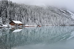 Lake Louise Banff National Park Canada. In September Stock Photo