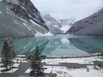 Lake Louise Banff National Park in the Canadian Rockies Royalty Free Stock Image