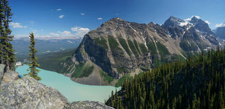 Lake Louise in Banff National Park Stock Image